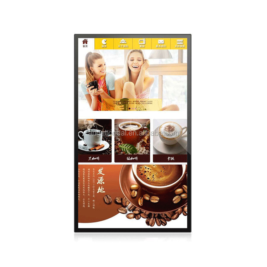 42 inch touch screen tablet interactive kiosk for food
