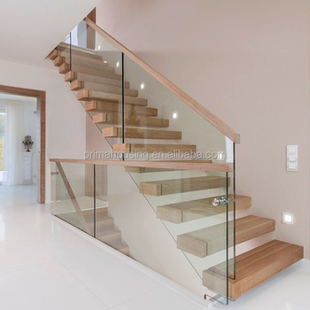 Build Floating Staircase Glass Marble Stair