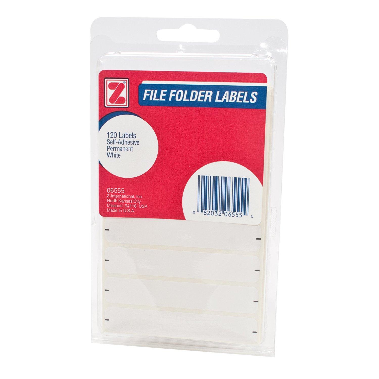 ADVANTUS Self Adhesive File Folder Labels, 9/16 x 3-1/4 Inches, 120 Labels, White (Z06555)