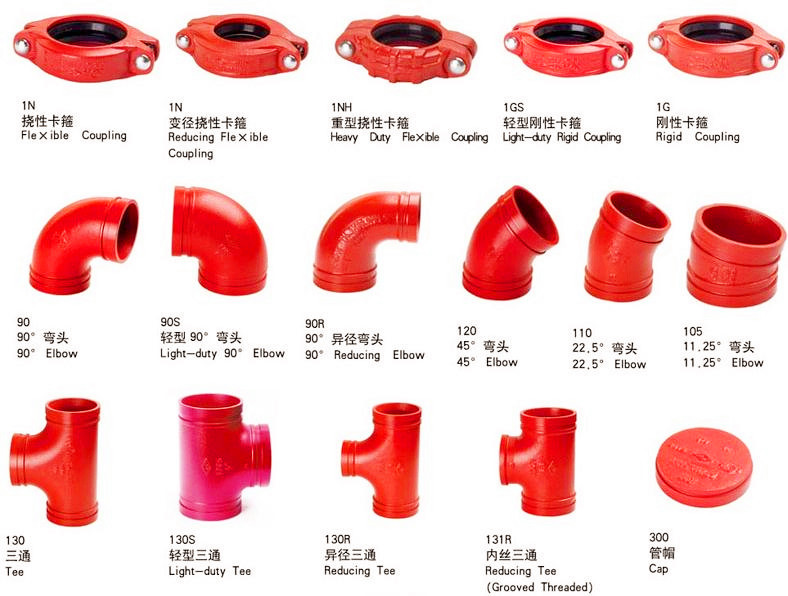Ductile iron grooved fitting elbow tee coupling buy