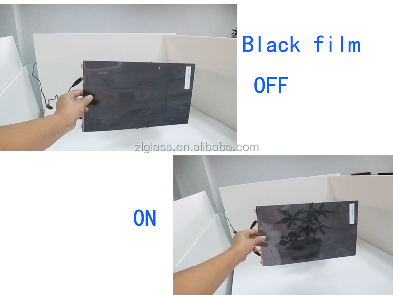 Electric Controlled Removable Switchable PDLC Self-adhesive black color Smart Tint film