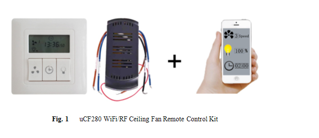 Wifi Rf Control Remote Controller For Ceiling Fan