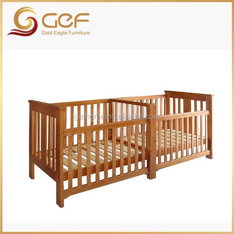 twins babies wooden crib baby cot bed for twins gef bb 110 buy twin beds for baby wood double. Black Bedroom Furniture Sets. Home Design Ideas
