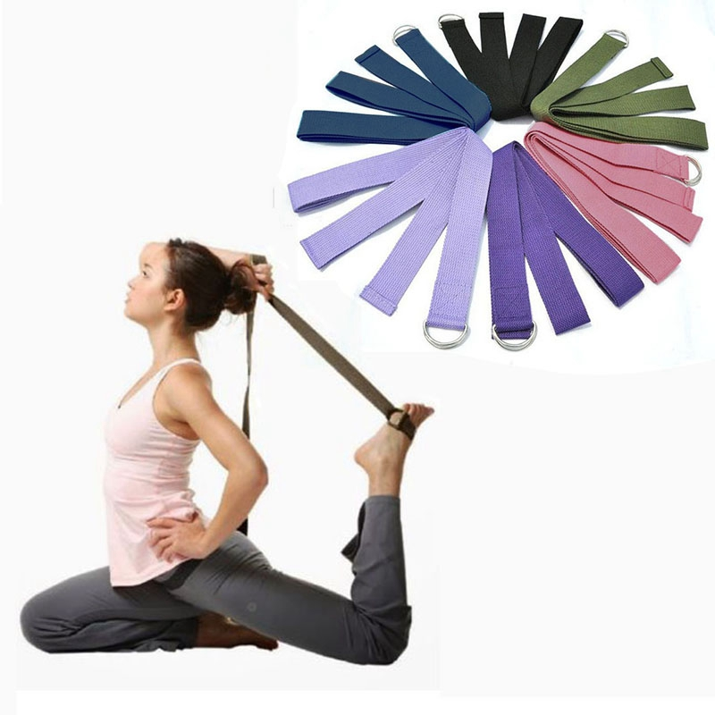 New Multi-Colors Women Yoga Stretch Strap D-Ring Belt <strong>Fitness</strong> Exercise Gym Rope Figure Waist Leg Resistance <strong>Fitness</strong> Bands