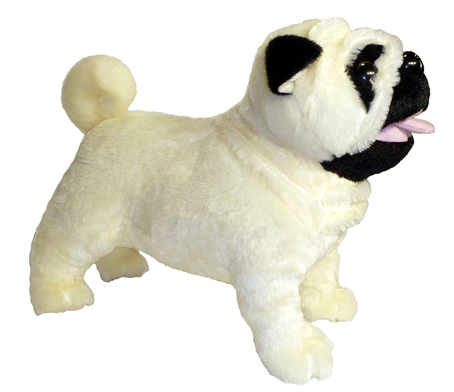 """ADORE 12"""" Standing Misfit the Farting Pug Dog Plush Stuffed Animal Toy"""
