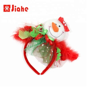 Plastic snowman headband hairband christmas goods