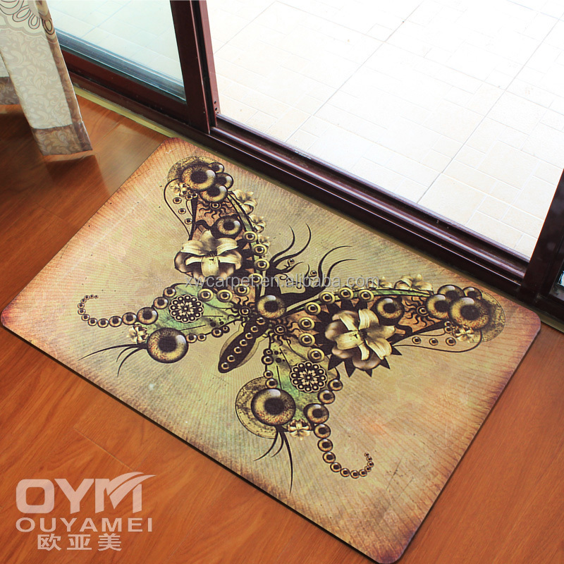 Exhibitor Washable Floor Rubber Backed Oriental Rugs For