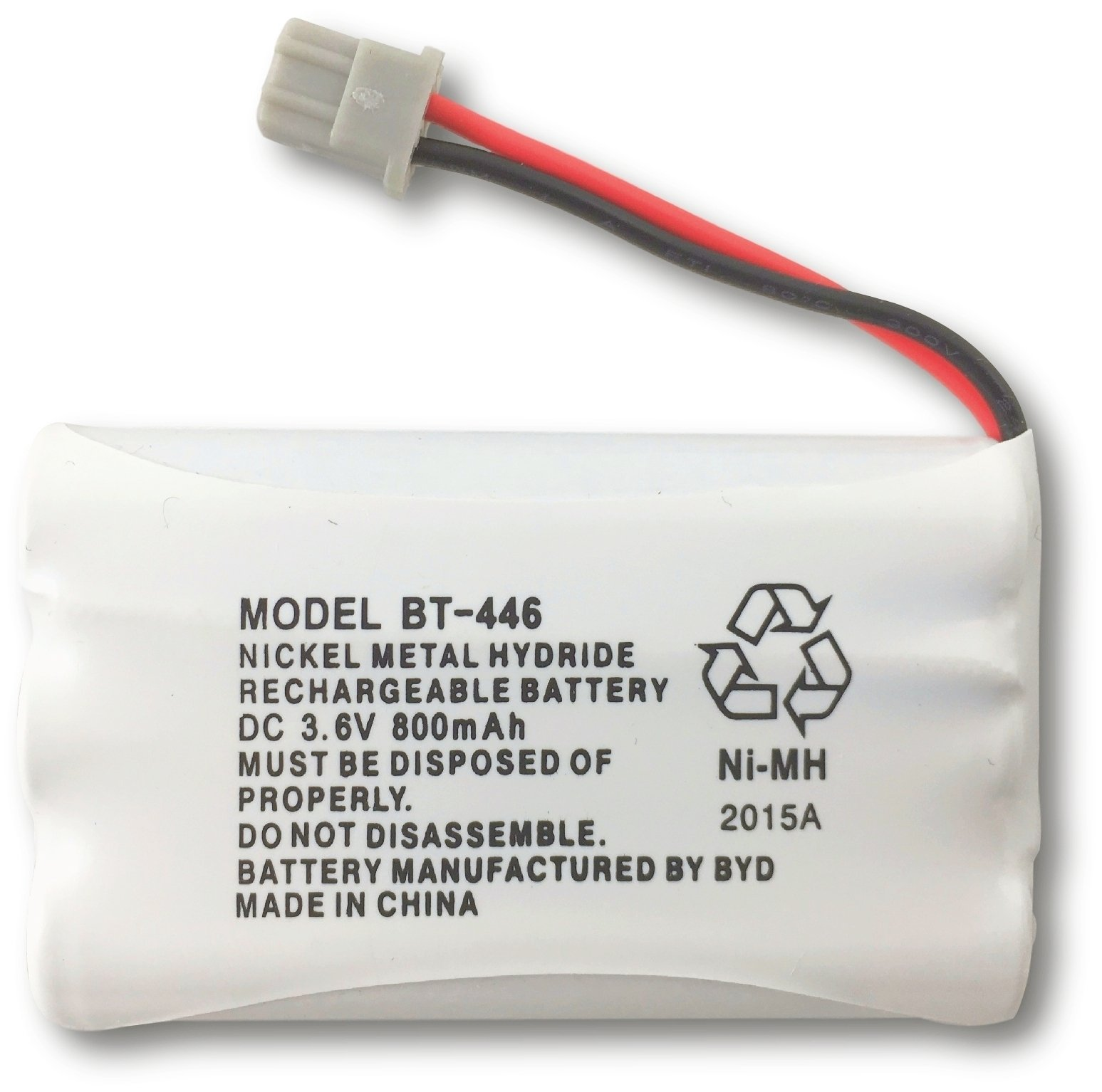 Uniden BT-446 Nickel Metal Hydride Rechargeable Cordless Phone Battery, DC 3.6V 800mAh, Genuine Uniden, Manufactured by BYD for Uniden