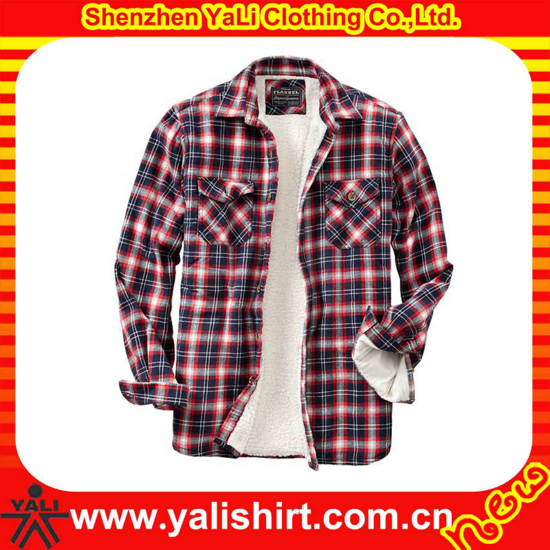 Custom Flannel Sherpa Lined Mens Shirt
