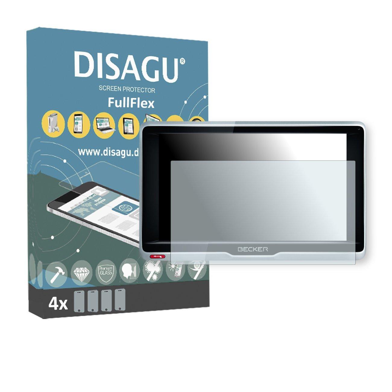 4 x Disagu FullFlex screen protector for Becker Professional.6 LMU foil screen protector