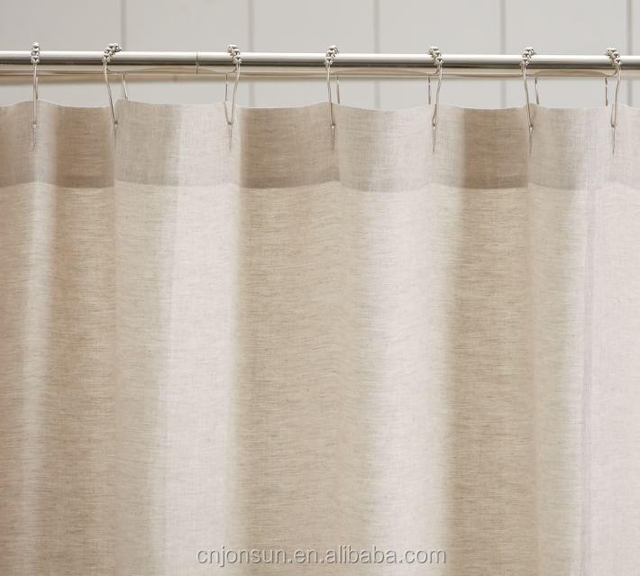 Jonsun 100 Linen Ruffle Shower Curtain Home Goods Curtains