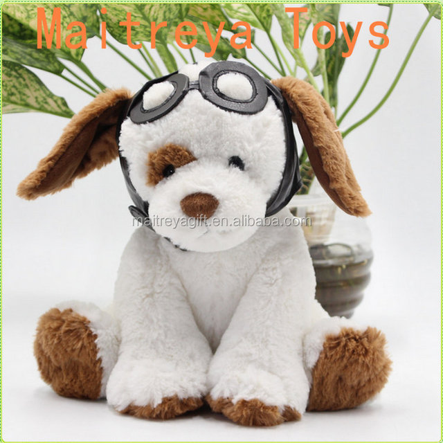 Cutest and smartest lovely stuffed plush dog toy with glasses