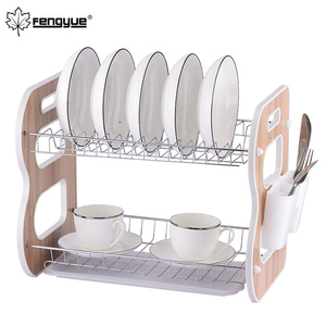 Stainless Steel 2-Tier Kitchen Dish Rack Dish Drying Rack
