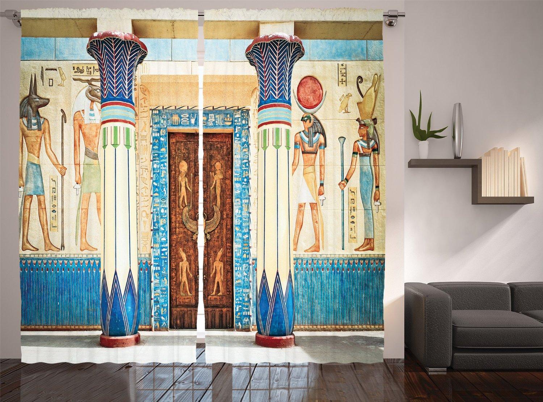 Цветы в египетском стиле купить шторы