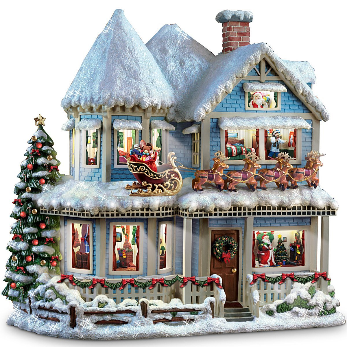 Buy Thomas Kinkade Twas The Night Before Christmas Collectible Story ...