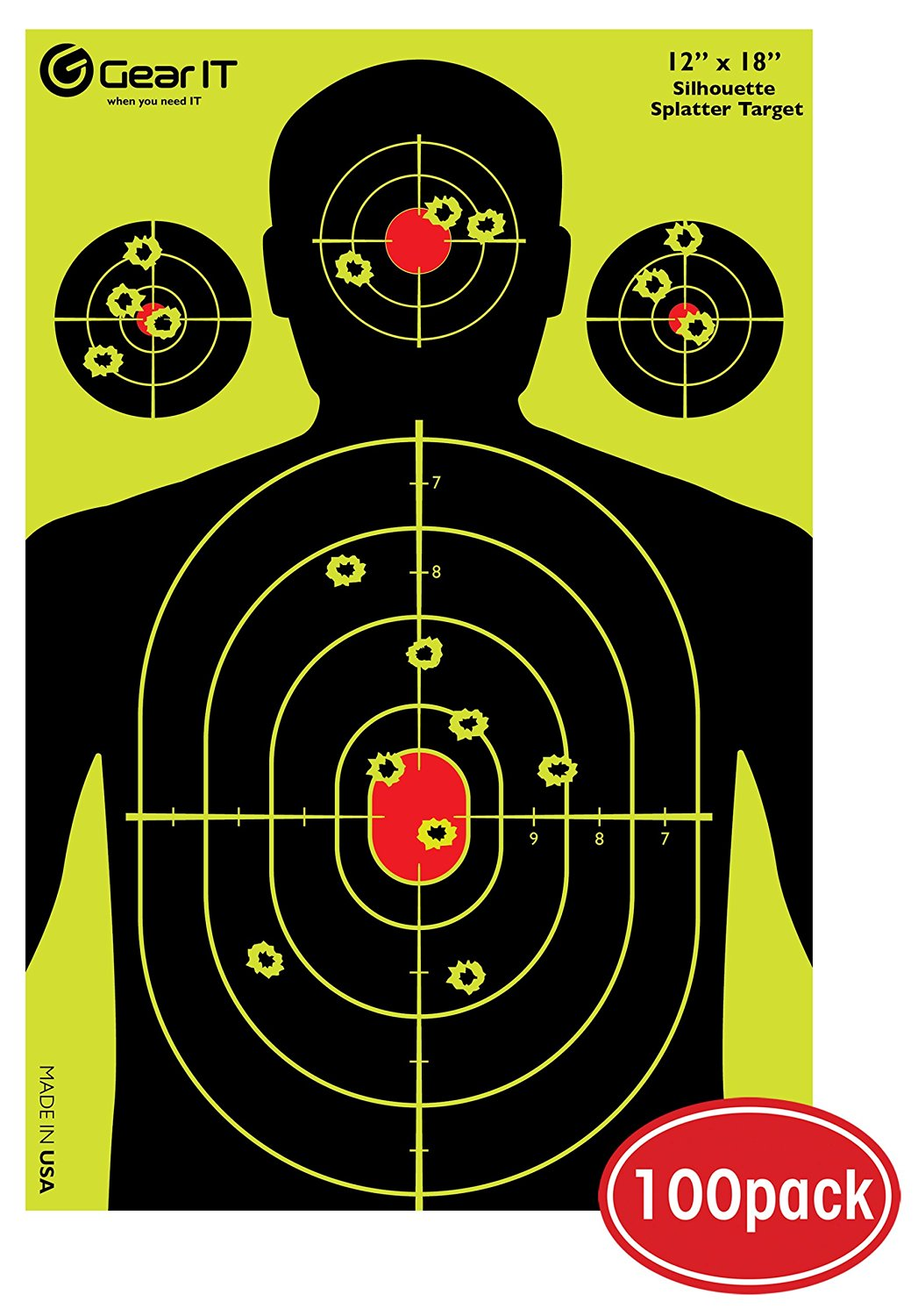 ASG SHOOTING TARGETS 100 PACK AIRSOFT RIFLE TARGETS 14X14CMS