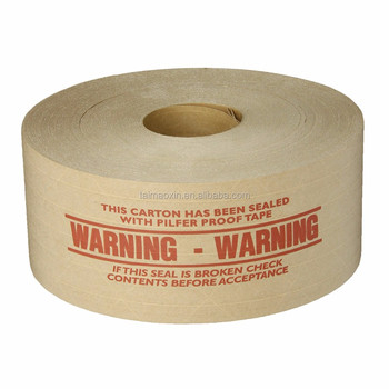 economy grade water activated reinforced kraft gum paper sealing