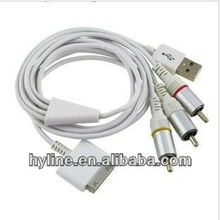 Av Output Cable For Apple Iphone 4 4s Ipad 2 3 Ipod Touch