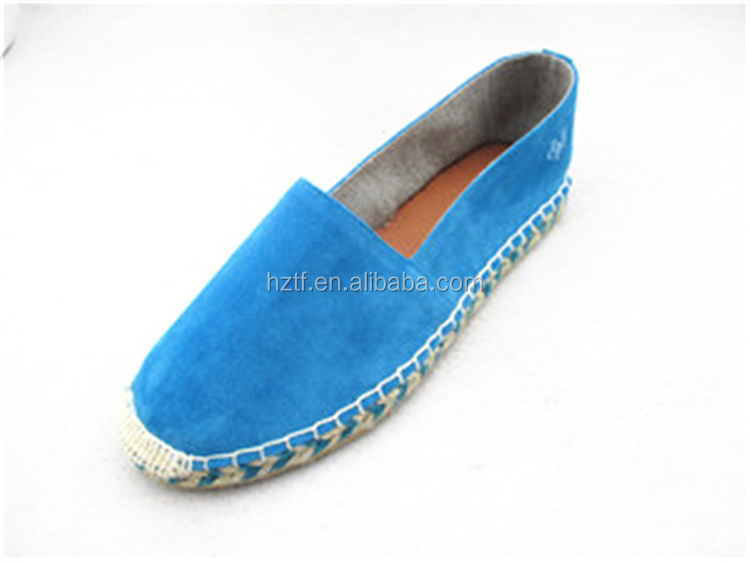 Hot Sell Lace Up Flats Casual Jute Espadrille Wedge Shoe Women
