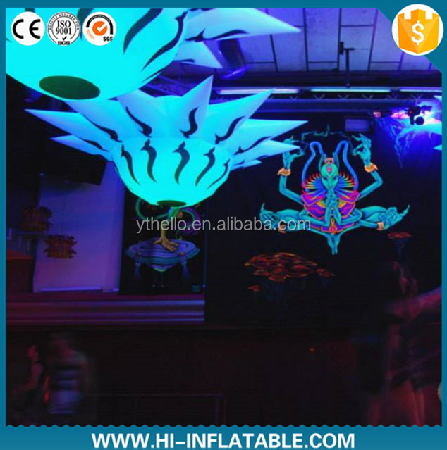 magnificent ceiling event decoration supplies inflatable flower with LED lights