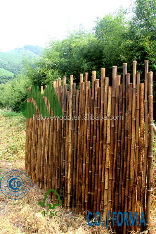 Tiger Bamboo Rolled Fence Panel, Screen Panel, Garden Fencing