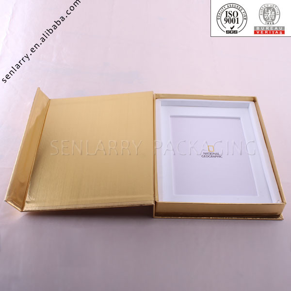 2018 Magnetic Closure Cardboard Box In Gold Metallic Paper Of High ...