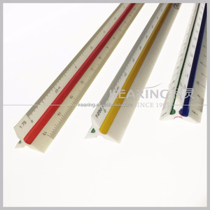 Factory professional supply 30cm long plastic triangular architect scale ruler for engineers and art design