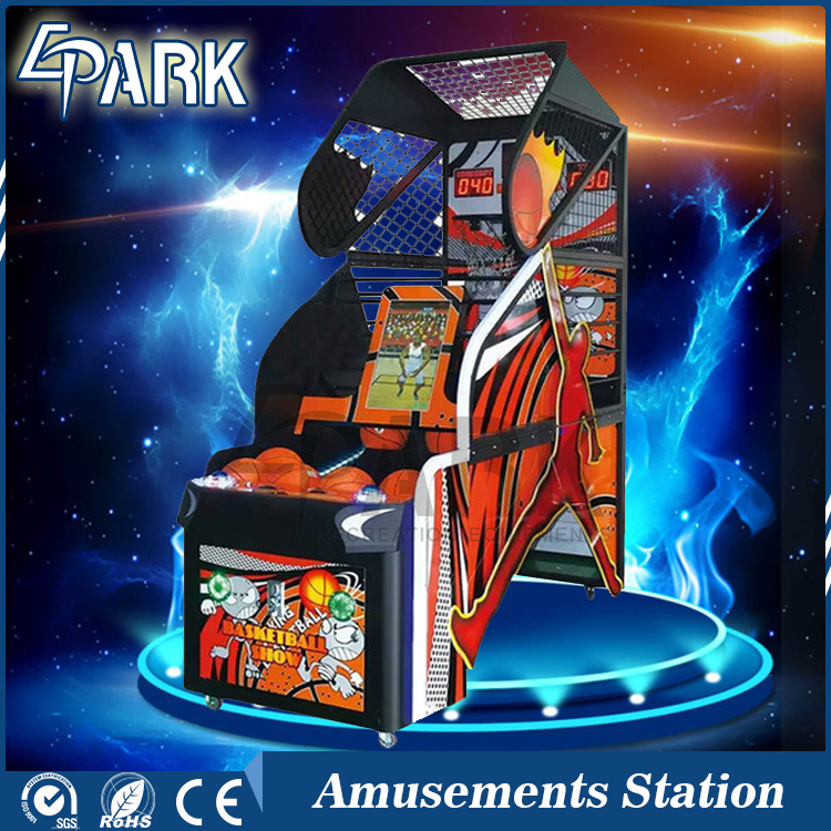 Game center equipment coin operated street basketball arcade game machine