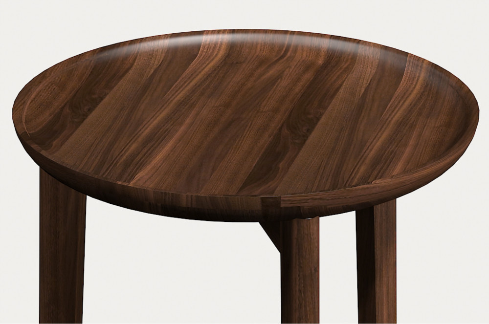 Modern Round Shape Small Solid Wood