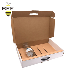 Wholesale custom printing corrugated carton portable wine champagne packaging cartons