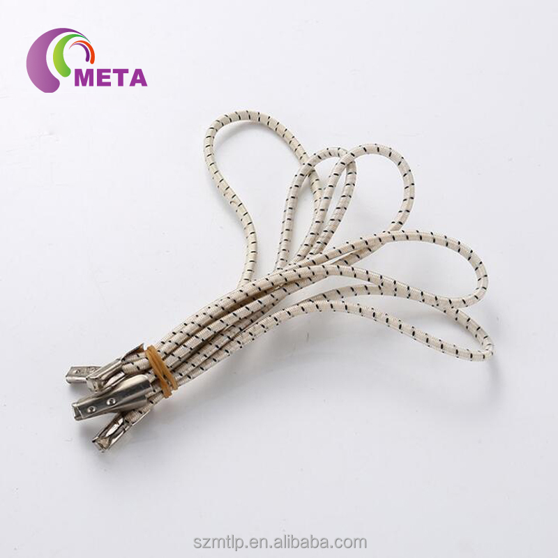 Garment used elastic cord with plastic barb