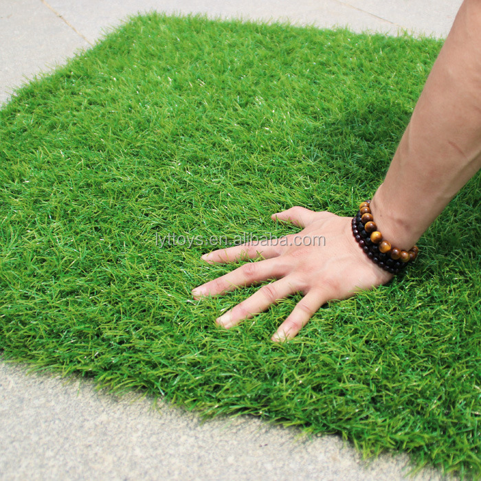Hot sale outdoor garden synthetic fake grass floor tile mat lawn