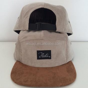 8ad5e673131 Wholesale 5 Panel Corduroy Snapback Cap With Woven Label - Buy ...