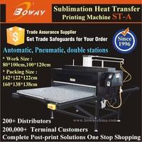 Pneumatic Automatic 2 Stations Sublimation heat press t shirt printing machine price