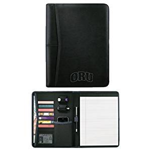 Oral Roberts Pedova Black Writing Pad 'ORU Debossed'