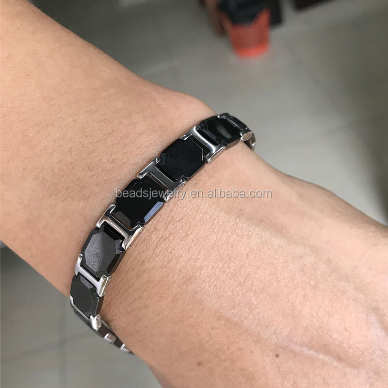 TV Shopping Healthy Pure Ceramic bracelet with Germanium Stone Mangetic Bracelets for women and men