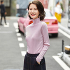 Factory Wholesale Ladies Turtleneck Fit Knitted Cashmere Sweater