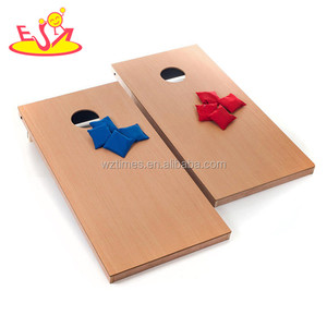 Wholesale most popular outdoor throwing large game cheap outdoor entertainment wooden corn hole game W01A206