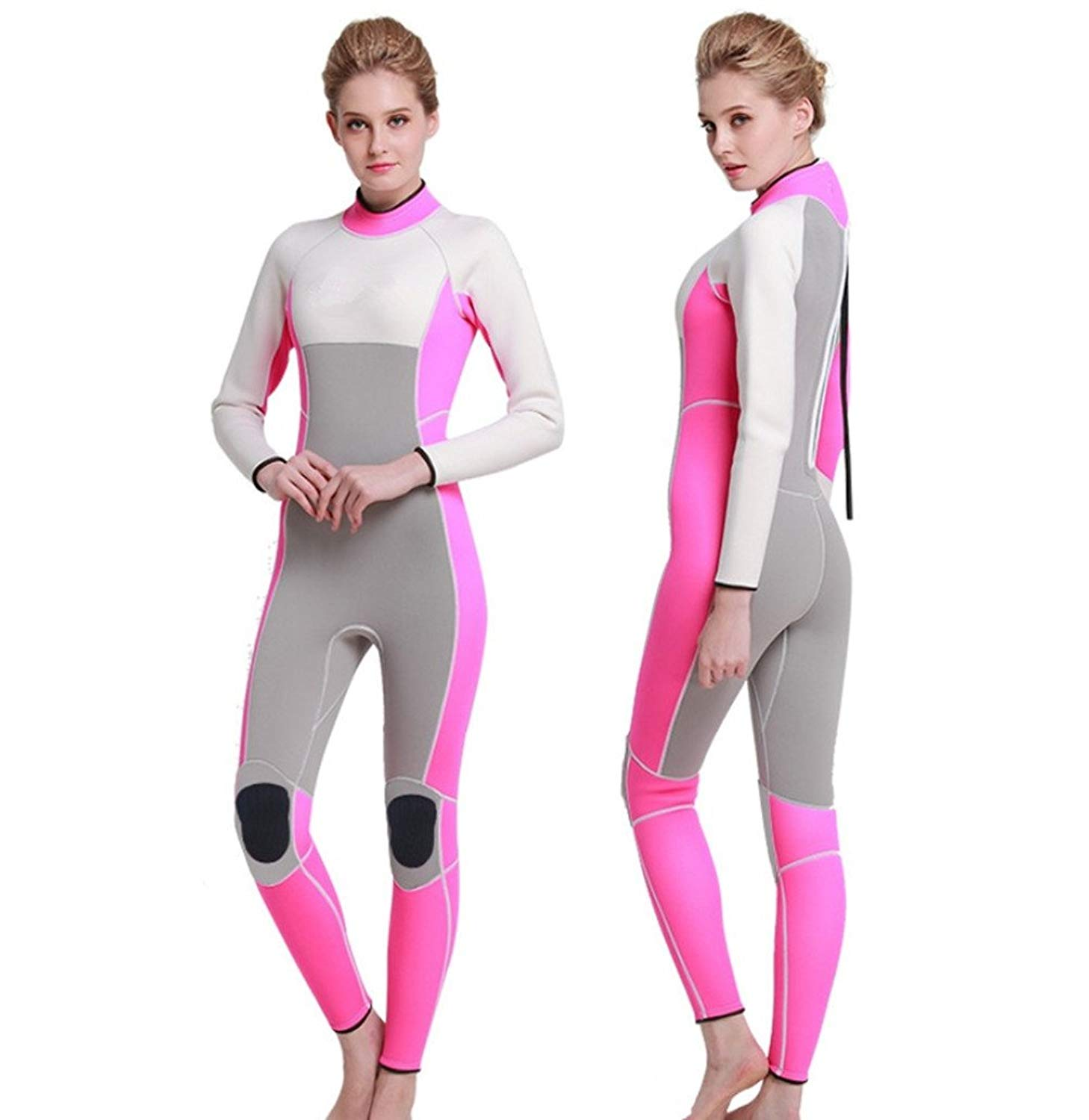 Get Quotations · One-Piece Swimwear 3mm Neoprene Wetsuits Modest Swimsuits  For Women and Mens Surfing Suit Winter 1cee5ef56