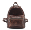 Custom Small Vintage Fashion Real Leather Backpacks for Girls