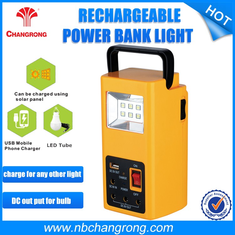 China 2016 New Product Rechargeable Portable Solar Home Lighting System
