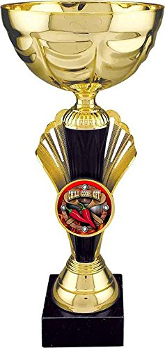 Chili Cook-Off Gold Metal Cup Trophy/Cook Off Cup Award | 12 inch - Customize Now - Decade Awards
