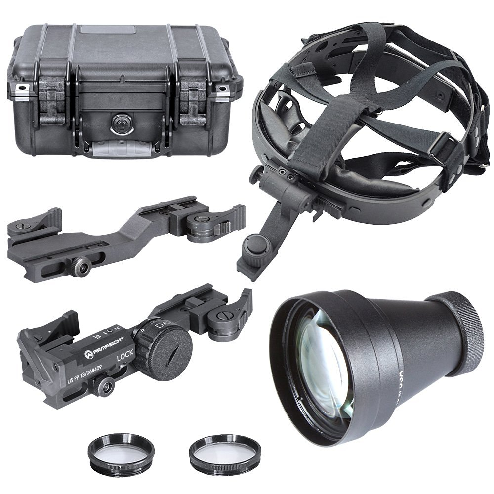 Armasight Tactical Kit for Nyx14 Multi-Purpose Night Vision Monocular: Goggle Kit, SW, DS, 3x A-Focal Lens, AIM, QR Weapon Mount, Hard Case