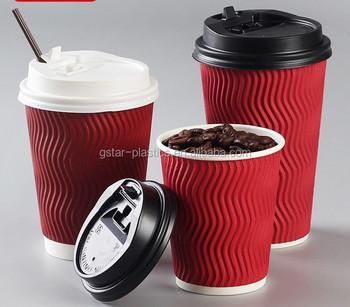 8oz 12oz 16oz Ripple Coffee Cups Paper
