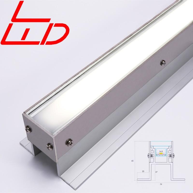 Ip68 Waterproof Aluminium Led Profile 80 Degree Aluminum Extrusion Floor Recessed Trim Lighting Housing