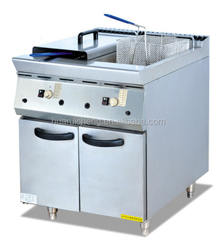 Fast food kitchen used commercial deep fryer