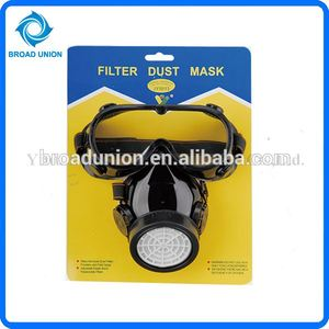 2PC Dust Mask Respirator Single Filter With Safety Goggle Set
