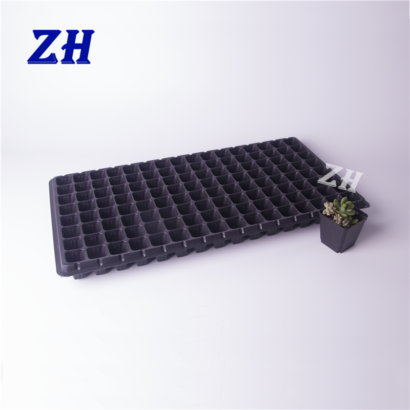 128 cell reusable plastic rice plant seeding nursery tray