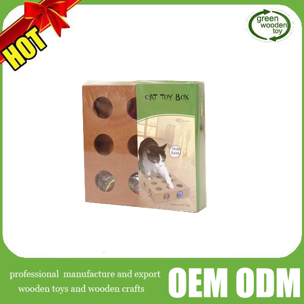 2016 new Wooden cat intelligence toys ,wooden pet toys for cats