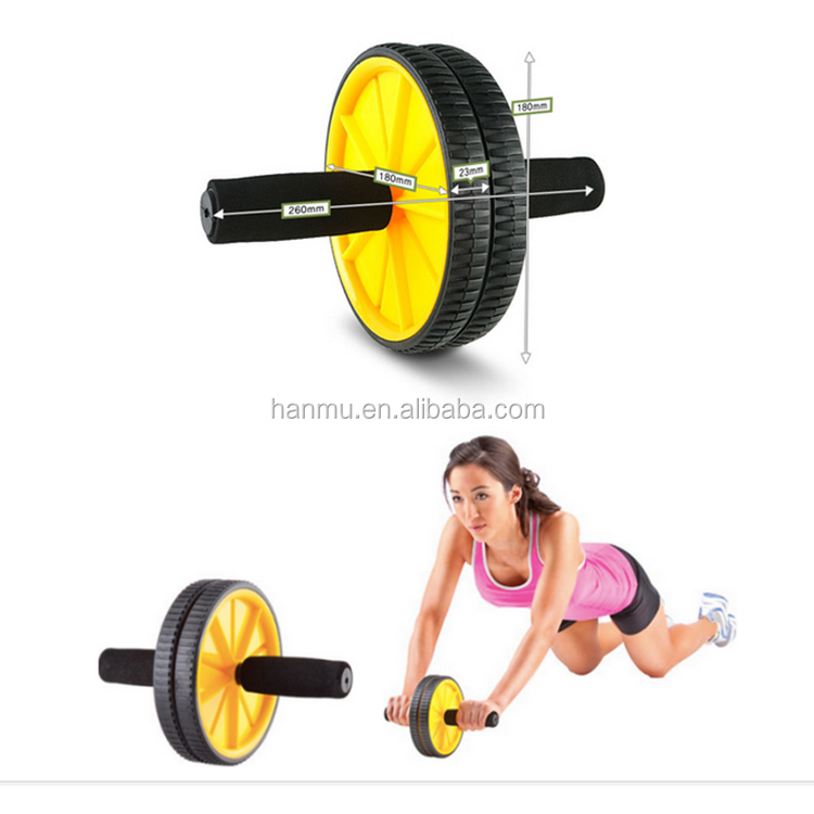Body Ab Pro Fitness Workout Core Exercise Wheel Trainer with Knee Mat